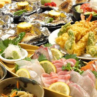 新鮮なお魚やボリューム満点のコース