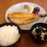 串だおれ - 【ランチ】焼き魚定食(ほっけ) 700円