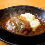でんじろう - 和牛カイノミを使用したハンバーグを特製デミグラスソースでお楽しみ下さい。