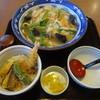 手延べうどん むぎの里 - 料理写真:お昼のちゃんぽんうどんセット(ミニ丼付)