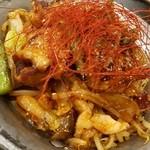 くいしんぼ - ホルモン3種 ピリ辛みそ炒め