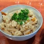 中華そば 輝羅 - 炊き込みご飯