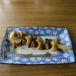 小崎食堂 - さざえ串焼