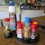 小崎食堂 - 卓上調味料