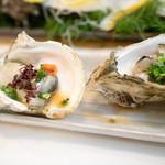 魚河岸寿司 - 2016.6 生牡蠣(松コース6,480円×2)