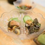 魚河岸寿司 - 2016.6 貝の肝(松コース6,480円×2)
