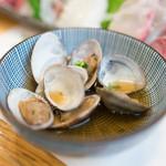 魚河岸寿司 - 2016.6 付だしのアサリ煮(松コース6,480円×2)
