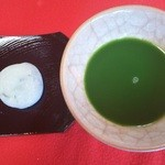 Kyoutotsuruyakakujuan - 屯所餅とお抹茶