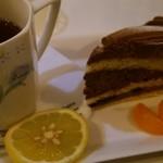プラージュ - ケーキセット(チョコレートケーキ)