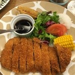 51899261 - (料理)豚ロースカツレツ(ポン酢)