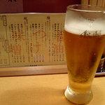 鯛だしとんこつ 我武者羅 - まずビール
