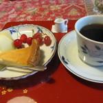 小机邸喫茶室 安居 - 自家製ベイクドチーズとコーヒー
