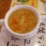 肉パル - 具だくさんになったスープ
