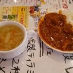 肉パル - スープとカレーバー:200円+税