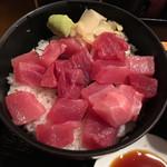 品川 ひおき - マグロぶつ切り丼  少なくとも他の肉系ランチより良い出来。