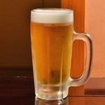寿すし - 生ビール(アサヒスーパードライ)
