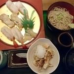 51911650 - ツブ平目甘エビ握り寿司定食 1050円