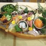 梅田産直市場 - 舟盛りお刺身
