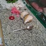 大市寿司 - あわび!半分切っただけかも!