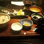 51920761 - 本日の焼魚と麦とろ飯御膳    今日の魚は鯵です