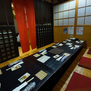 様々なタイプの個室を完備
