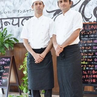 本場インド料理の味をお楽しみ下さい♪
