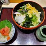 和ぐるめ - 日替わりランチ(冷やし山菜おろしうどんセット・大盛り)(2016年6月)