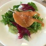 オステリア ラ ブォーノ - 【再訪】自家製アトランテックサーモンマリネのサラダ