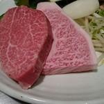 51926529 - 夜のお肉たち(*´ω`*)ヘレとサーロイン