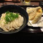 香川 一福 神田店 - ぶっかけ冷やし大、野菜天もり。
