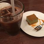 51928829 - アイスコーヒー+抹茶プリン