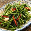 空芯菜炒め:パックブン・ファイディーン