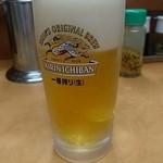北海道ラーメン 赤レンガ - 生ビール