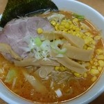 北海道ラーメン 赤レンガ - 味噌おろちょん+コーン