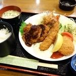 きのくに - 料理写真:2016年4月 ミックスフライ定食【1500】質、ボリュームともすごいけど1500円かぁ…