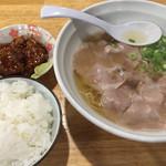 ラーメンNORI - 日替わりラーメンセット(塩) 400円