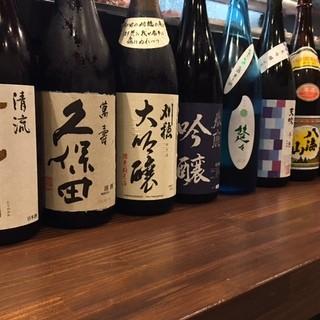 全国各地より選りすぐりの吟醸日本酒&焼酎