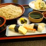 しめいち - 料理写真:更科天ざる寿司セット1050円