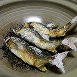 旬の幸 花○ - コース料理の焼き物(アユ)