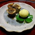旬の幸 花○ - コース料理のごぼうのあなご巻