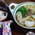 アサヒ - 鍋焼きうどん¥550 とにかく甘いぞなもし。 我が子マドンナがレポートです^^