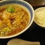 Aidukitakataramen - ラーメン+サービスライス