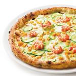 PIZZA SALVATORE CUOMO & BAR - 海老とズッキーニのクリームピッツァ