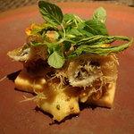 YUKIO SASAKI - 和歌山産の鮎カダイフ、真つぶ、オマールエビのテリーヌ