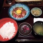 九州 熱中屋 - 胡麻ブリ定食¥780