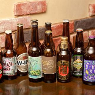 種類豊富なクラフトビール、樽生ビール