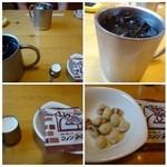 コメダ珈琲店 - ◆アイスコーヒー(420円)・・モーニングと違い「お豆」が付きました。