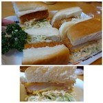 コメダ珈琲店 - 料理写真:◆海老カツサンド(820円)・・確かにかなりのボリューム。一つにしてよかった。(^^;)