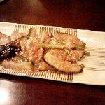 いっぽん - 茄子と豚のピリ辛炒め