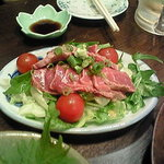 昭和のがんちゃん - 牛の叩きサラダ